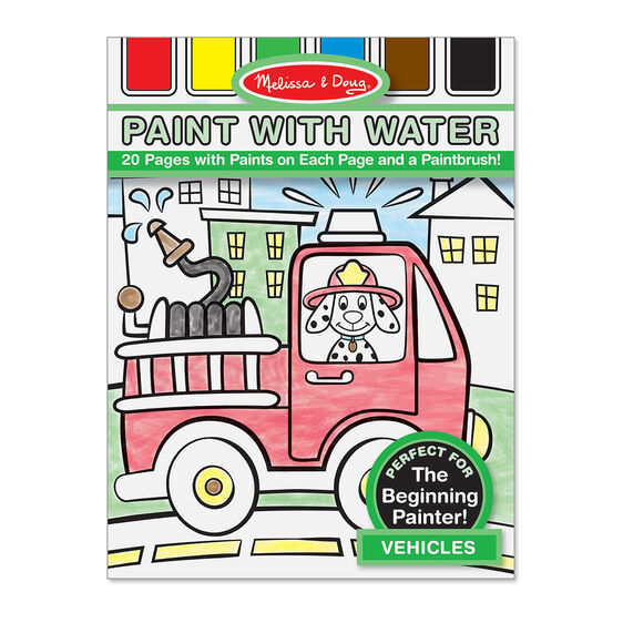 vehicles paint with water kids art pad - Paint With Water Coloring Books