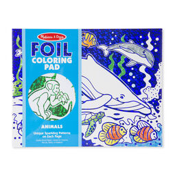 Foil Coloring Pad - Animals