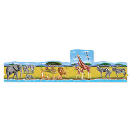 4 in 1 Linking Floor Puzzles - Safari