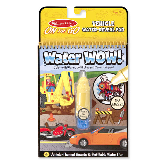 water wow vehicles on the go travel activity - Melissa And Doug Coloring Book