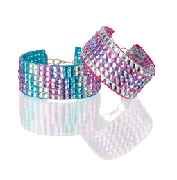 Press-On Rhinestones Bracelet Set