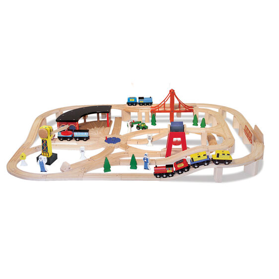 Wooden Railway Set Melissa Amp Doug