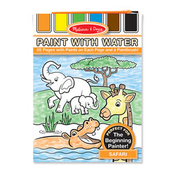 safari paint with water kids art pad - Paint With Water Coloring Books