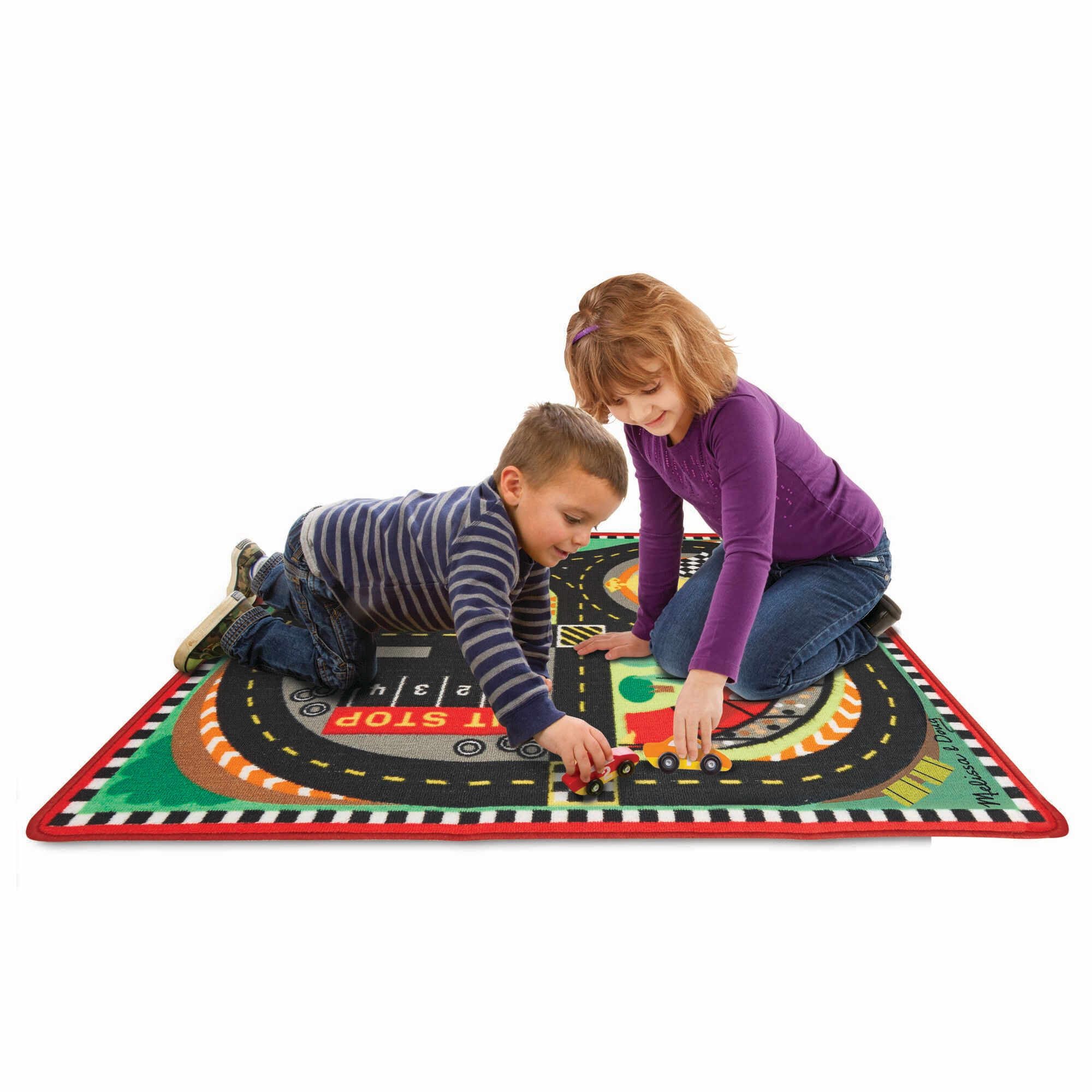 Lovely Round The Speedway Race Track Rug U0026 Car Set