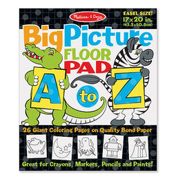 big picture floor pad a to z - Melissa And Doug Coloring Book