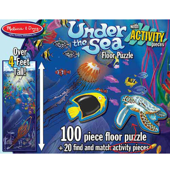 100 piece floor puzzle action underwater melissa doug for 100 piece floor puzzles