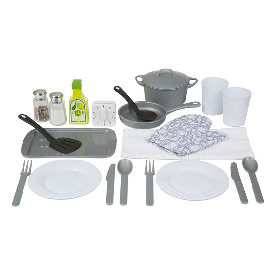 Kitchen accessory set melissa doug for Kitchen set for 3 year old
