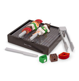 Wooden Grill Slice & Sort Playset