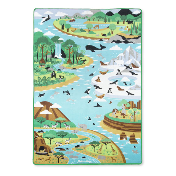 Jumbo Habitats Activity Rug Melissa And Doug