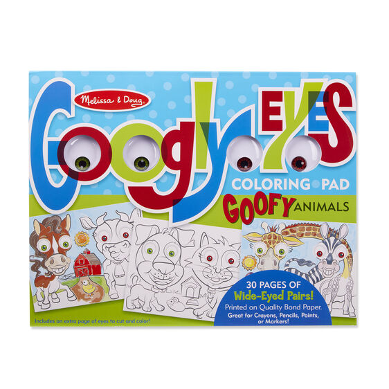 Goofy Animals - Googly Eyes Coloring Pad - Melissa And Doug