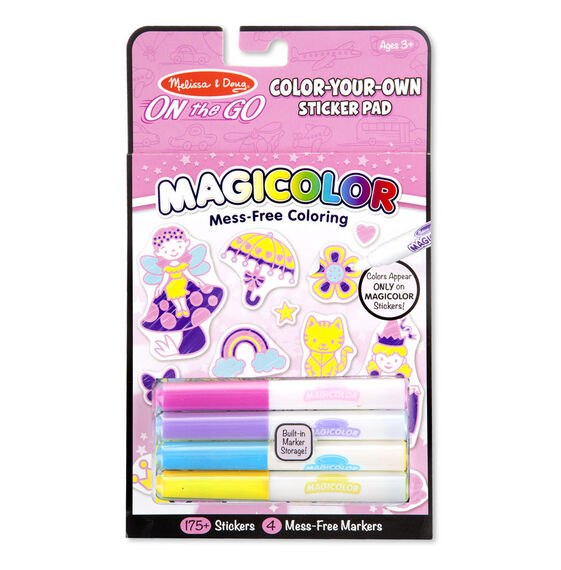On the Go Magicolor Color-Your-Own Sticker Pad - Princesses, Animals, and Fairies