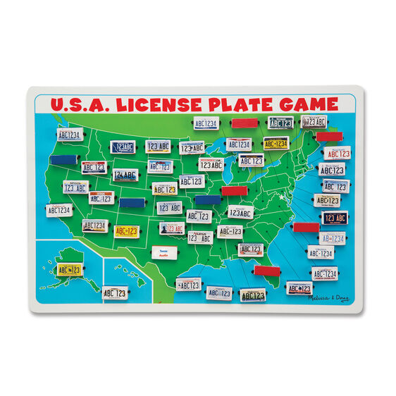 U S A License Plate Game Travel Game border=