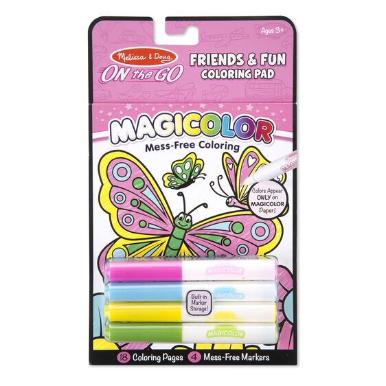 On the Go - Friends & Fun Coloring Pad | Melissa & Doug