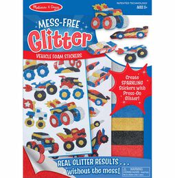 Mess Free Glitter - Vehicle Foam Stickers
