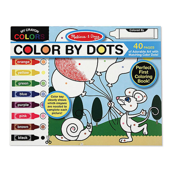 color by dots art activity - Melissa And Doug Coloring Book