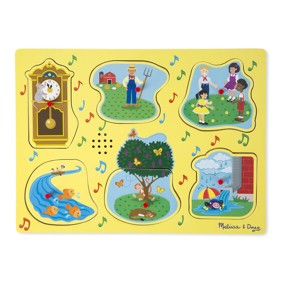 Sing Along Nursery Rhymes Sound Puzzle Yellow