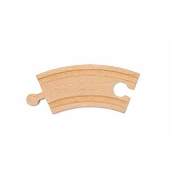 """3.25"""" Wooden Curved Track (6 pack)"""