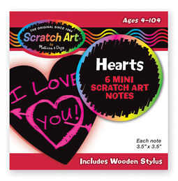 Scratch Art® Heart-Shaped Mini Notes
