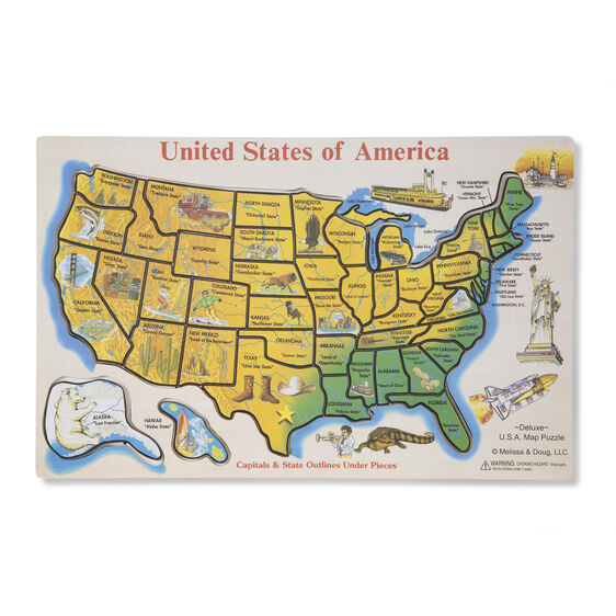 USA Map Puzzle - Image of usa map