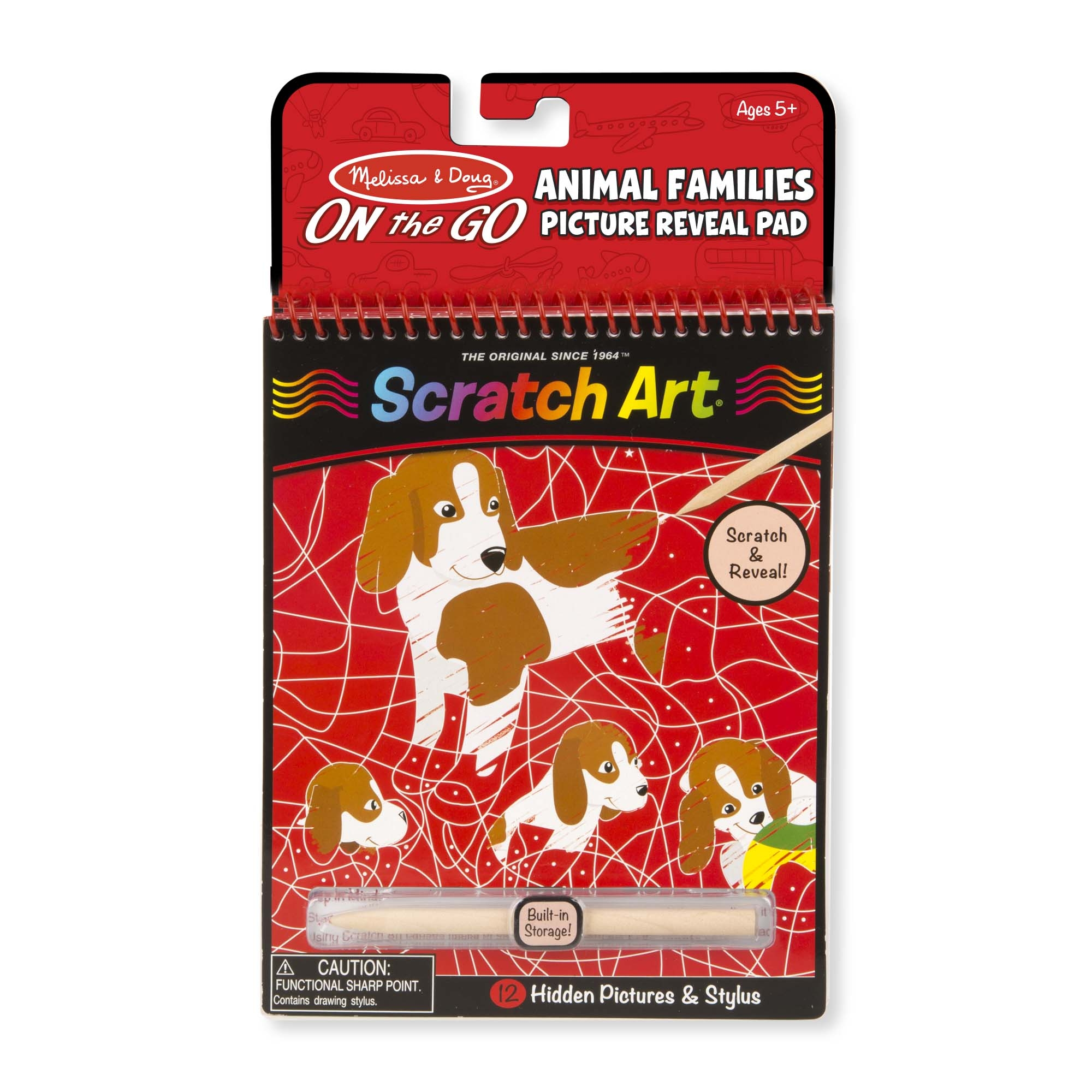 On the Go Scratch Art Animal Families HiddenPicture Pad