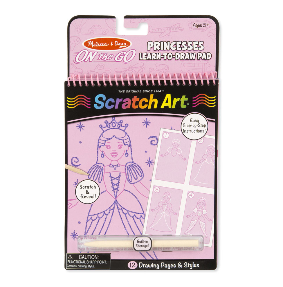 On the Go Scratch Art LearntoDraw Pad  Princesses