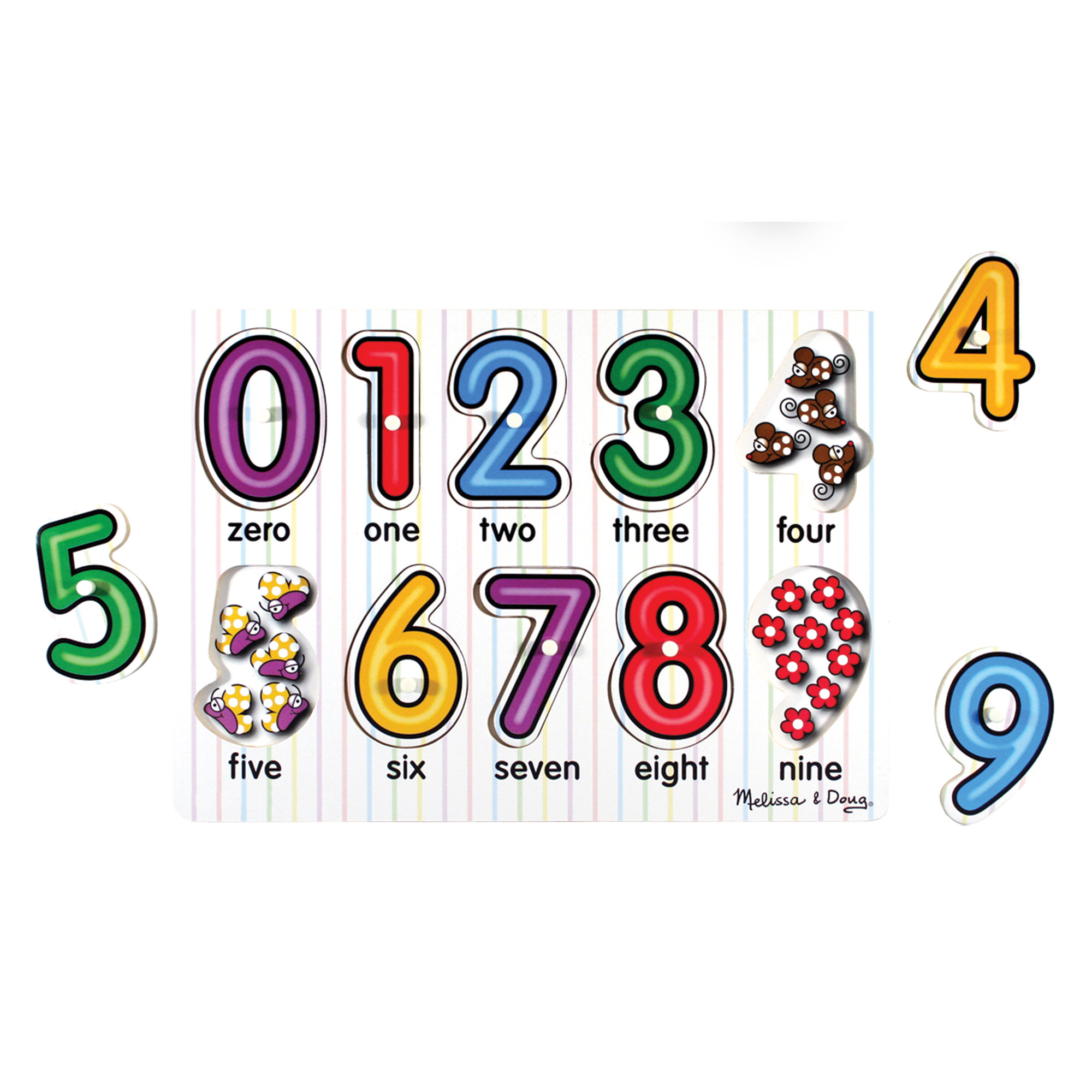 SeeInside Numbers Peg Puzzle 10 pieces