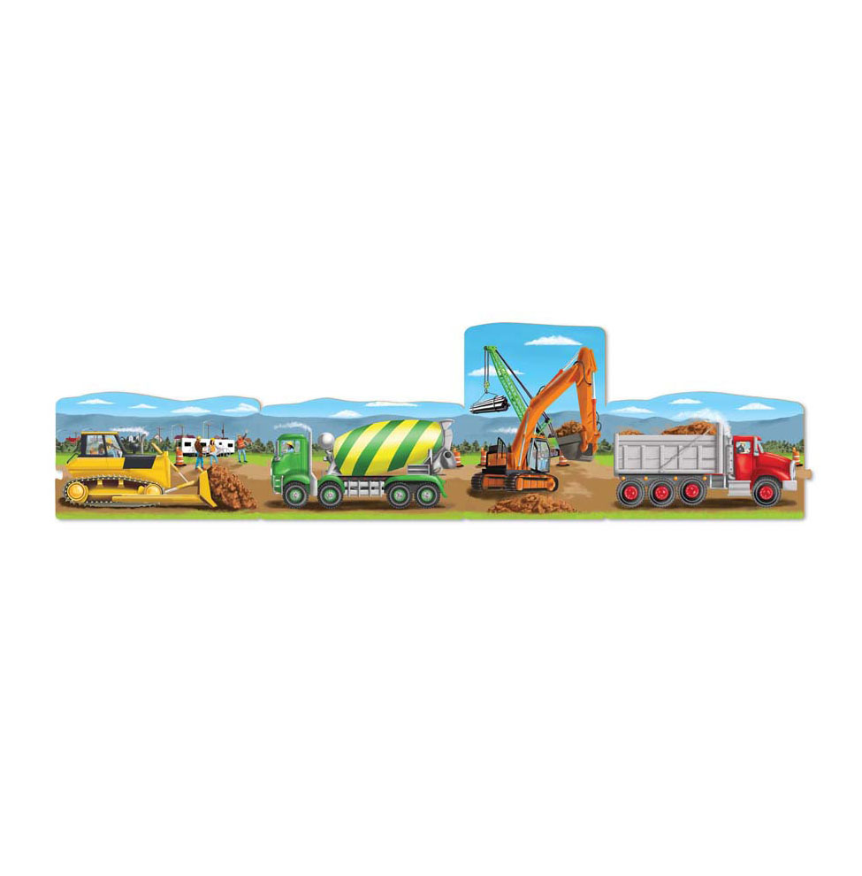 4 in 1 Linking Floor Puzzles  Construction