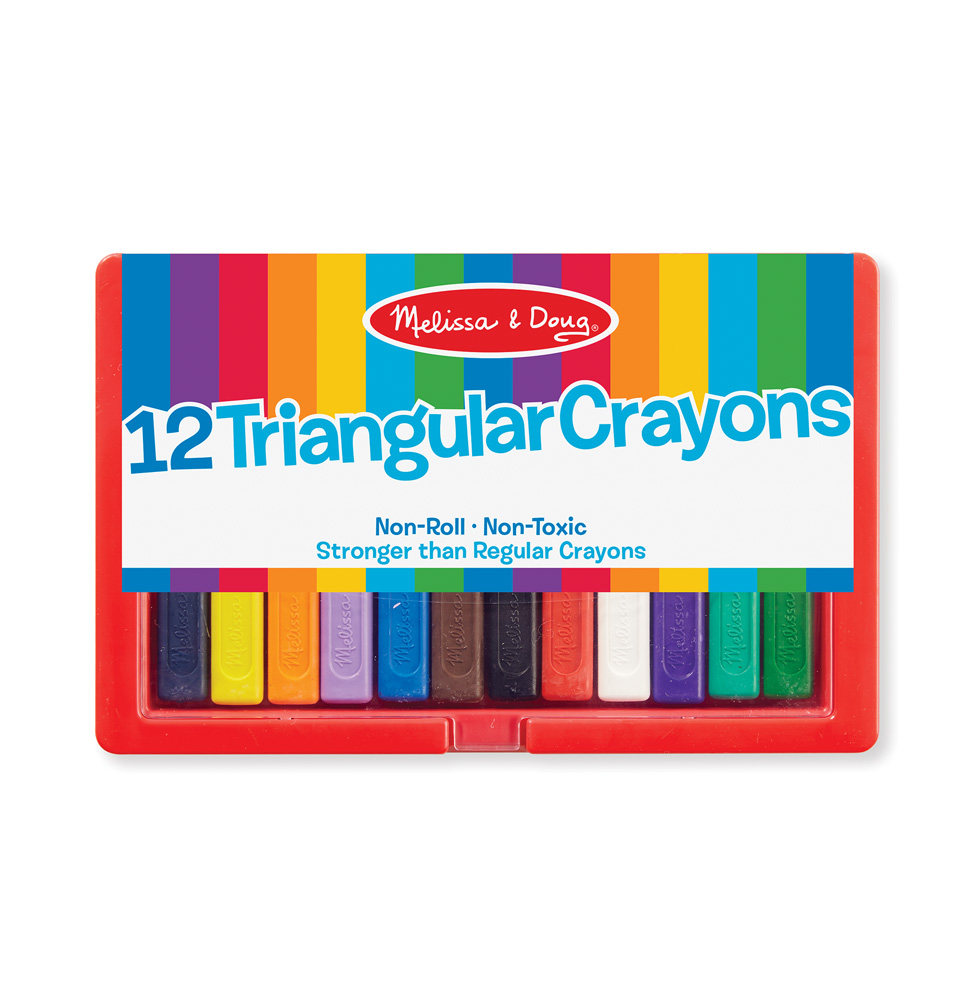 Triangular Crayons  12 pack