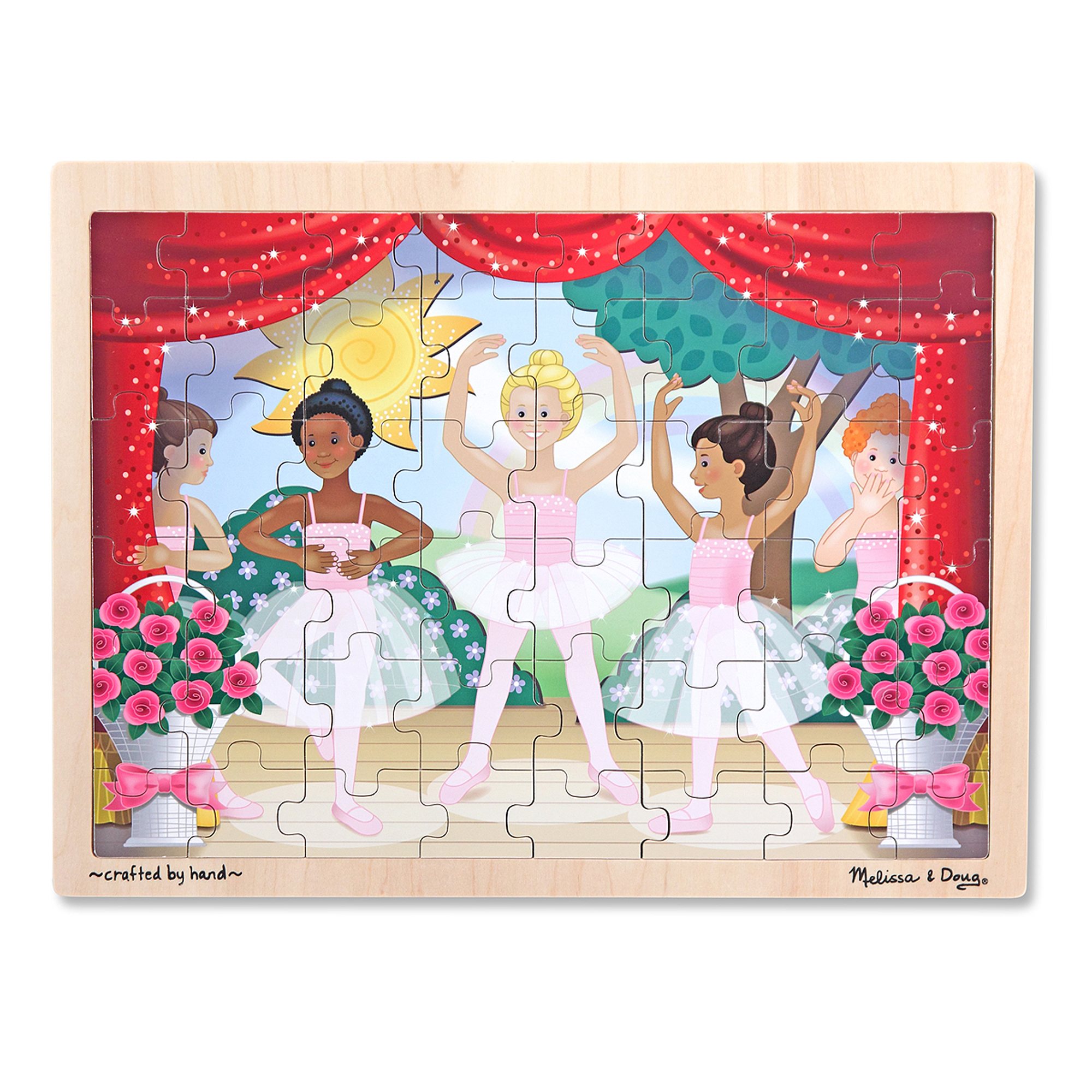Ballet Performance Wooden Jigsaw Puzzle  48 pieces