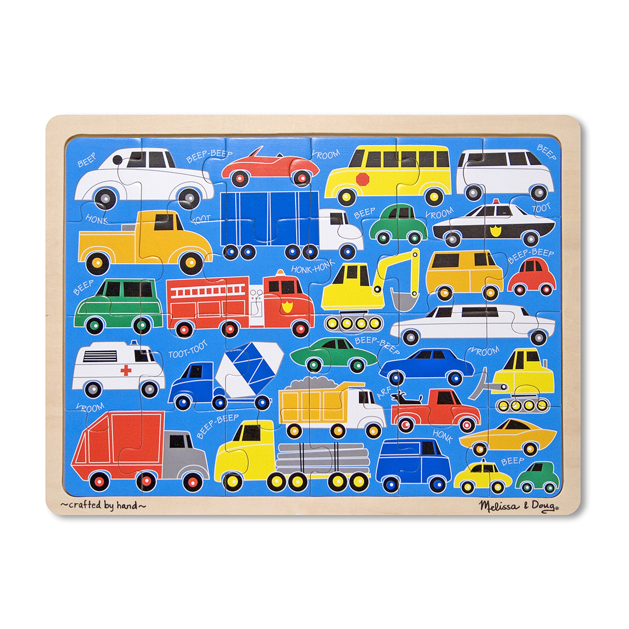 Beep Beep Wooden Jigsaw Puzzle  24 Pieces