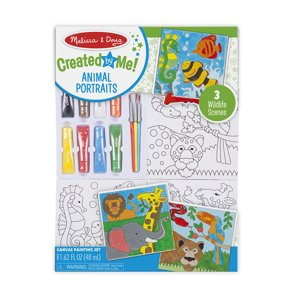 DecorateYour Own  Canvas Creations Painting Set  Animals