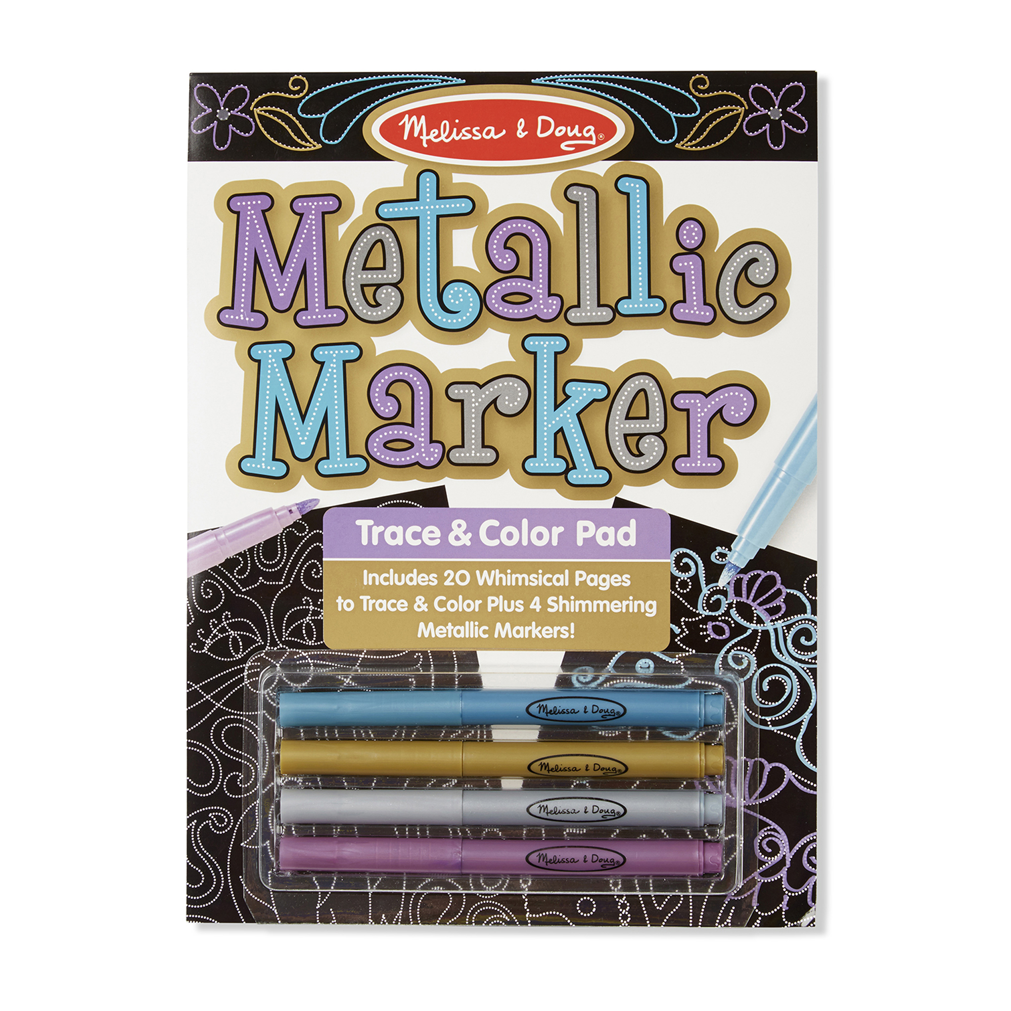 Metallic Marker Trace  Color Pad