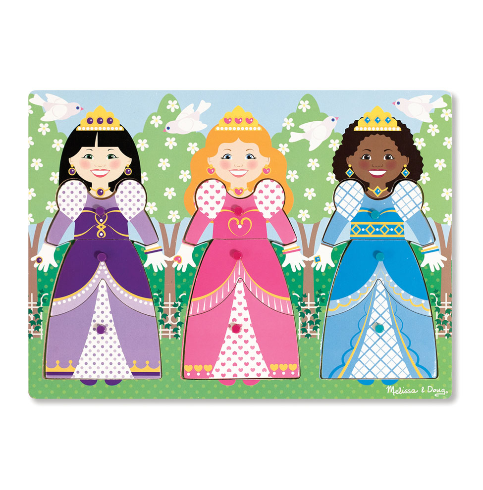 DressUp Princesses Peg Puzzle  9 Pieces