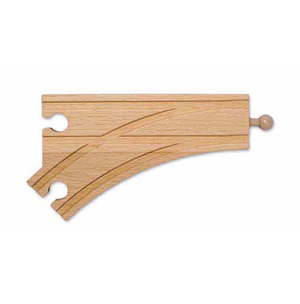 6 Wooden Curved Switch Track  Female (6 pack)