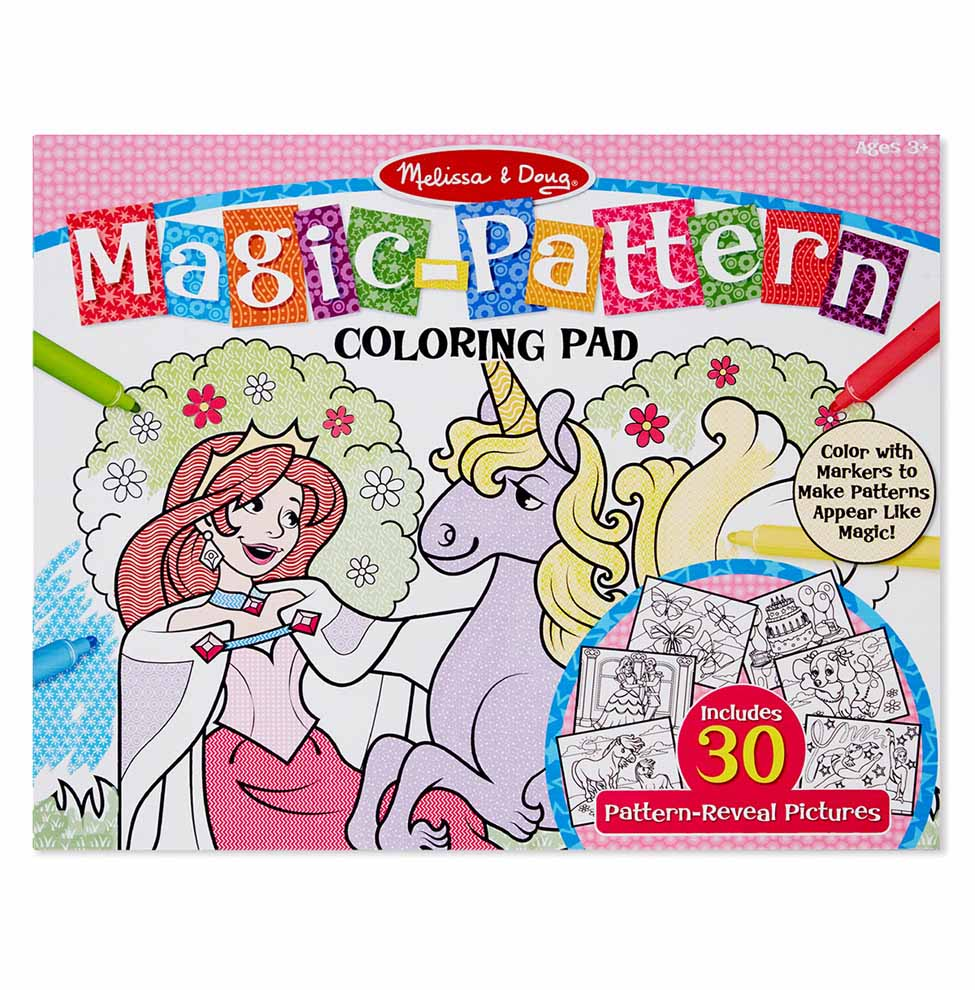 MagicPattern Marker Kids Coloring Pad  Princesses Ponies Parties and More
