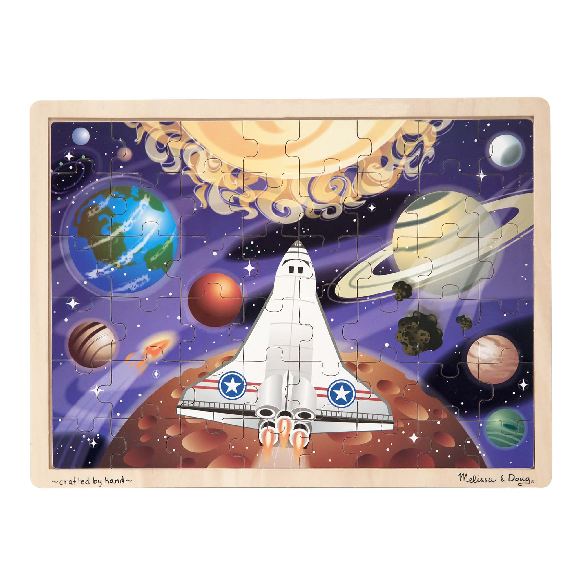 Space Voyage Wooden Jigsaw Puzzle  48 Pieces