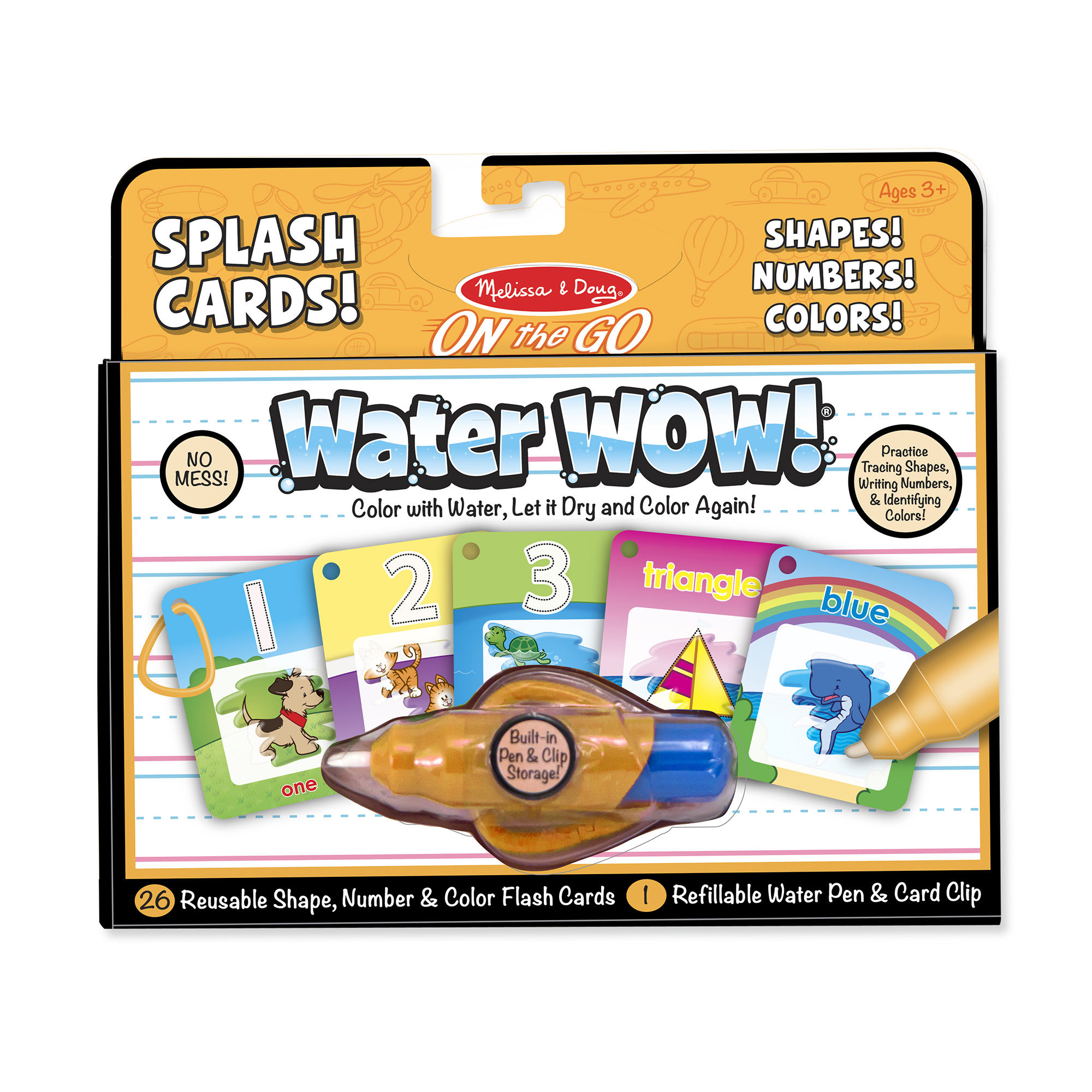 Water WOW Number Color Shape Cards  ON the GO Travel Activity