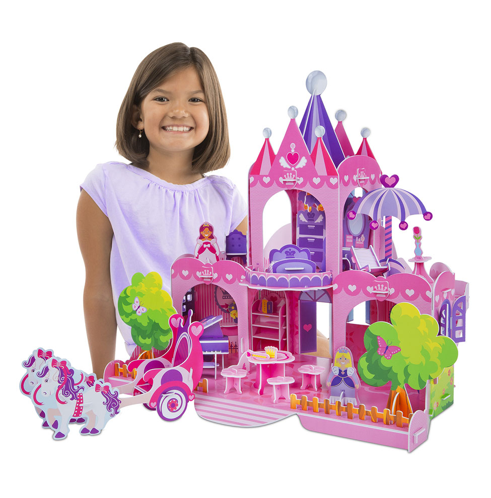 Pink Palace 3D Puzzle  Dollhouse in One
