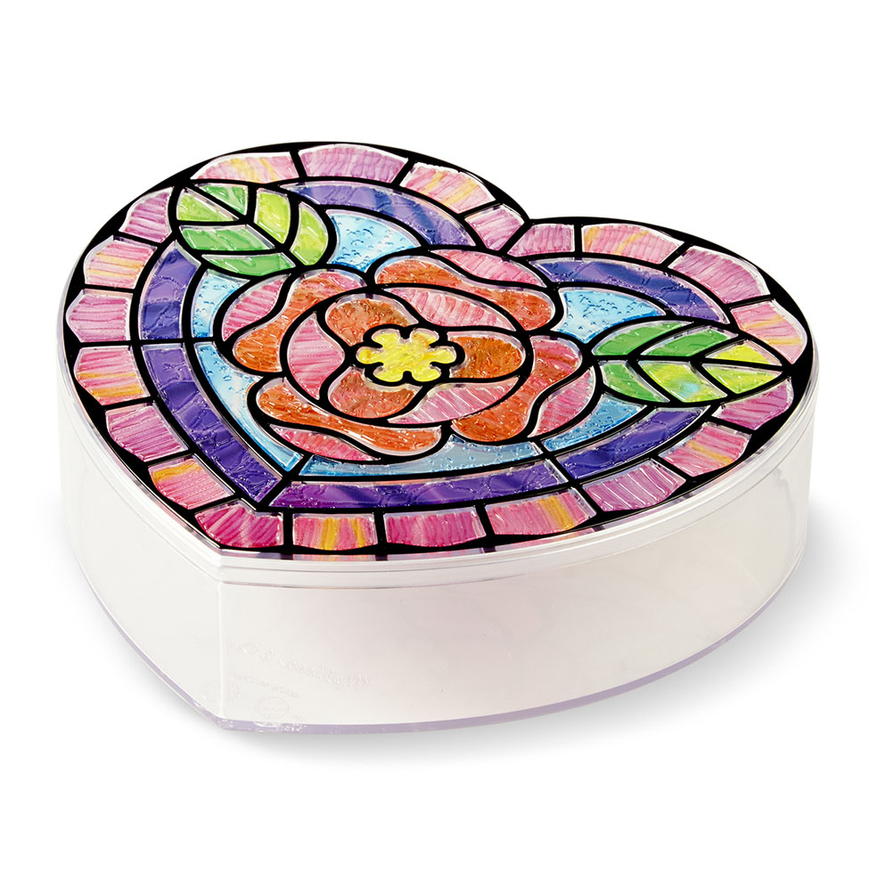 Stained Glass Made Easy  Heart Box