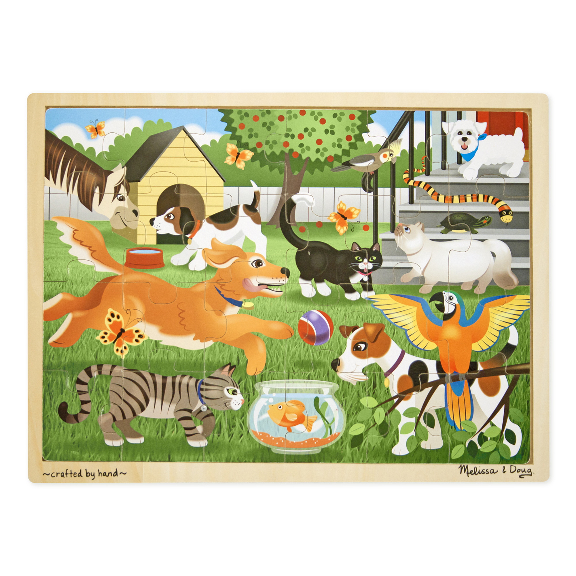 Pets Wooden Jigsaw Puzzle  24 Pieces