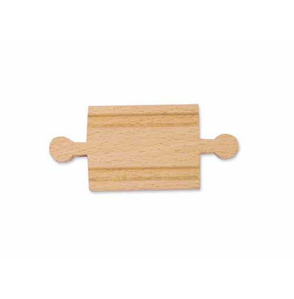 2 Wooden Straight Track  Male (6 pack)