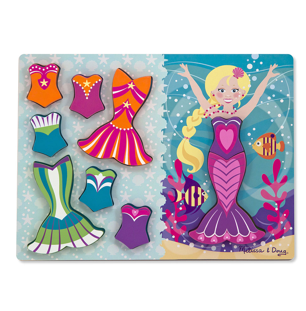 Mermaid DressUp Chunky Puzzle  9 pieces