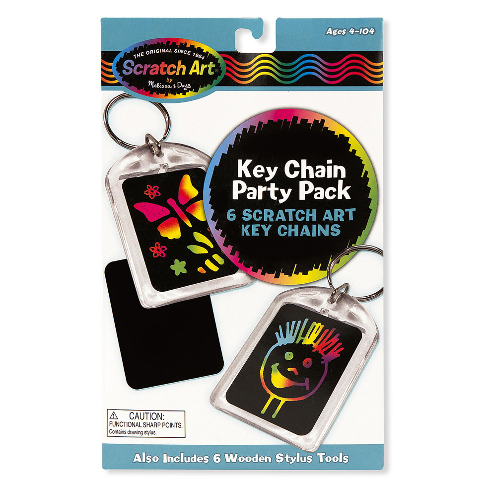 Scratch Artreg Party Pack  Key Chains