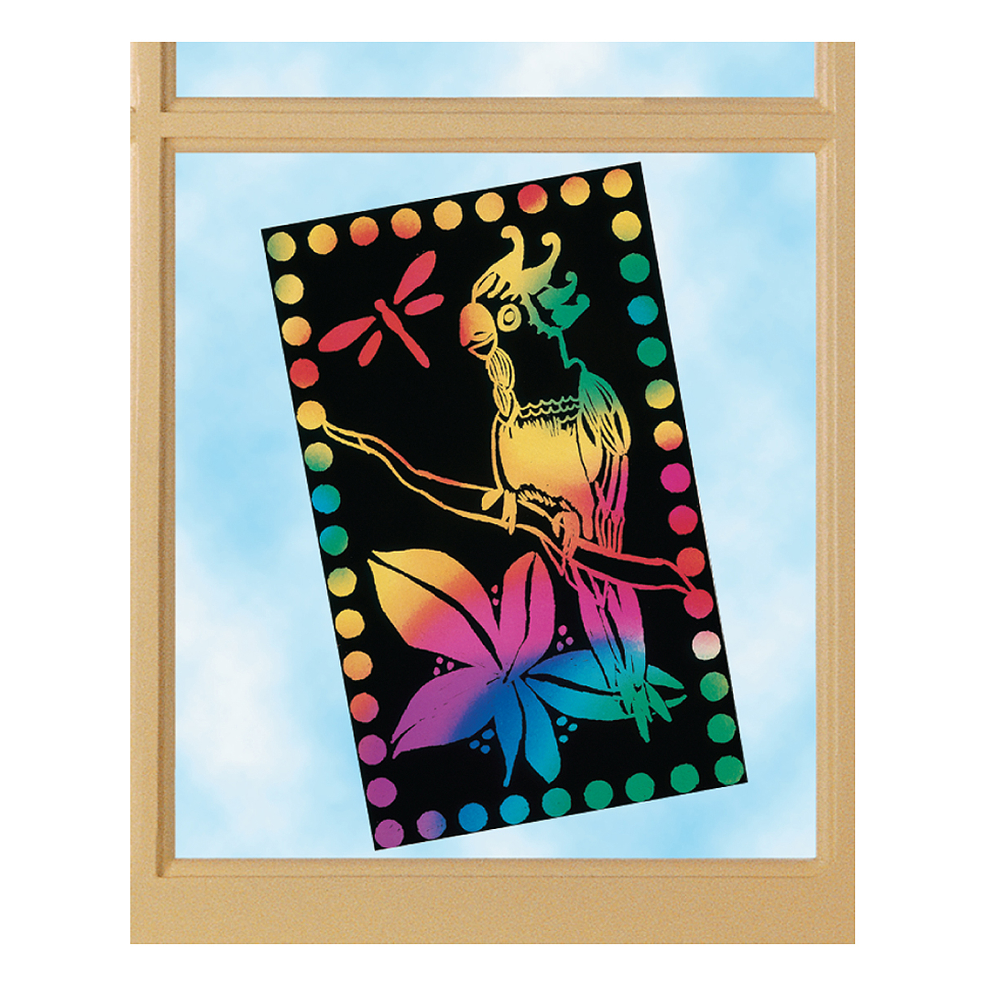 Scratch Art Scratch Lite Stained Glass (10 sheets)