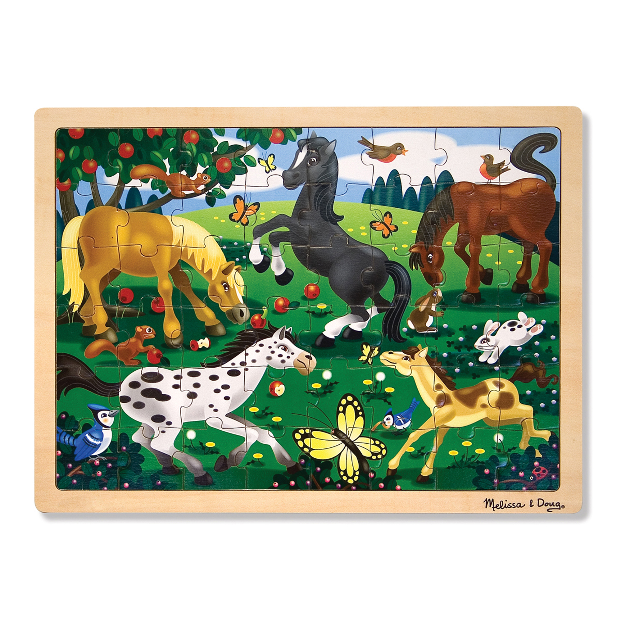Frolicking Horses Jigsaw Puzzle  48 Pieces