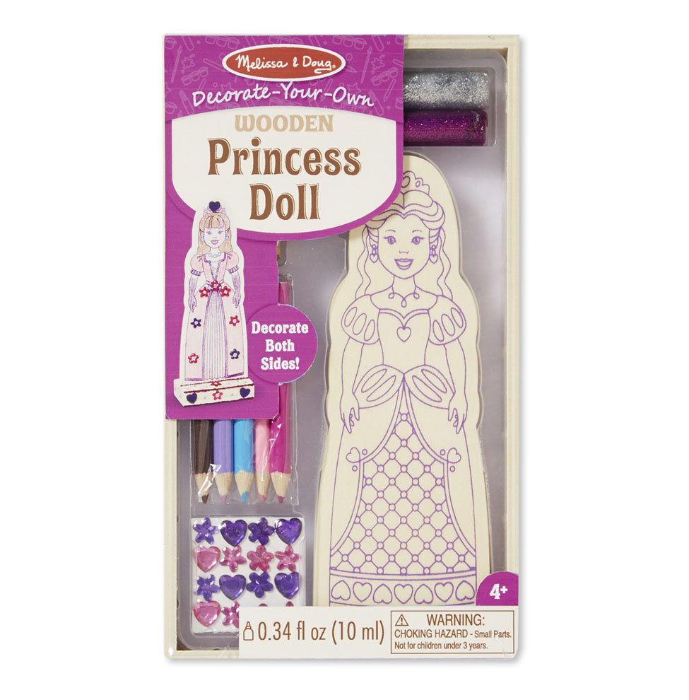 Decorate-Your-Own Wooden Princess Doll 8847