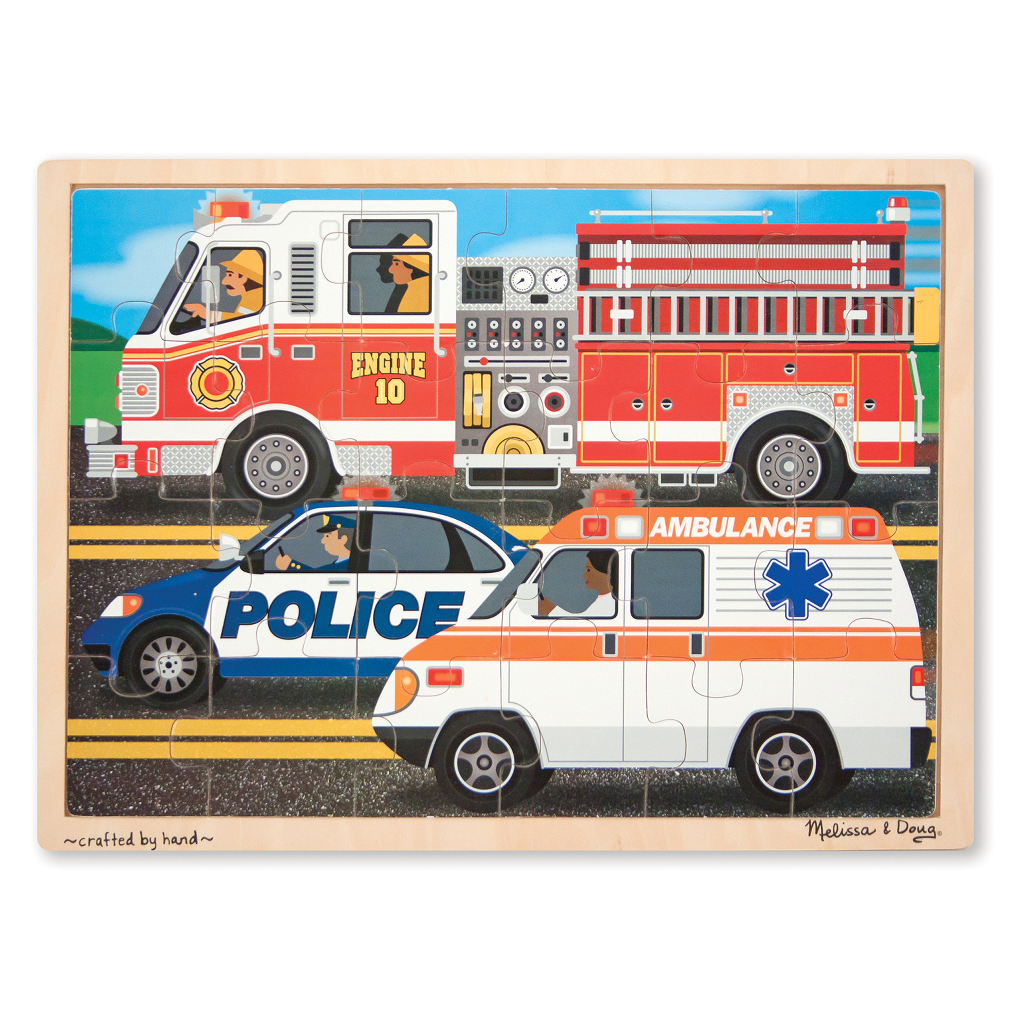 To the Rescue Wooden Jigsaw Puzzle  24 Pieces