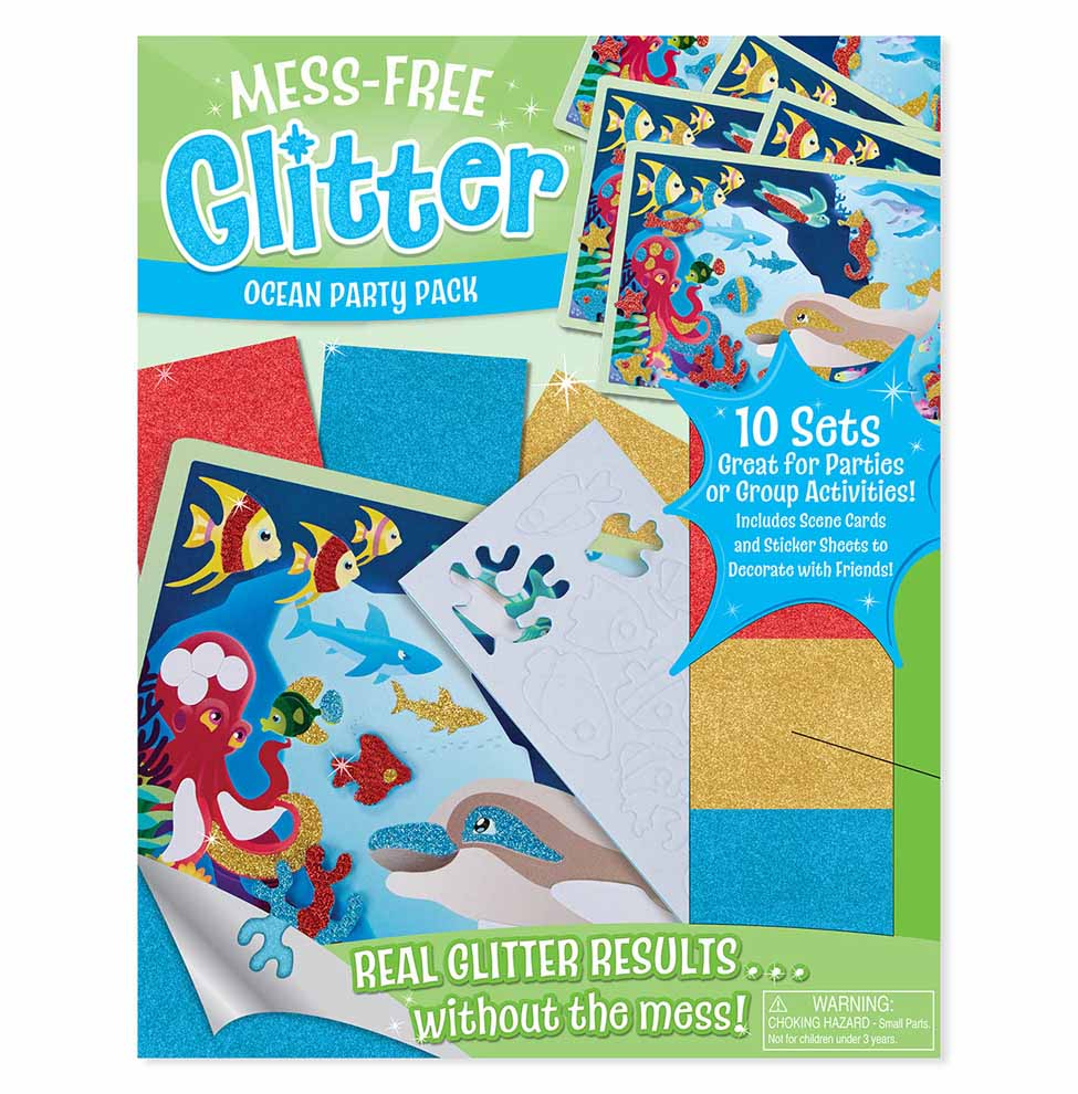 MessFree Glitter Ocean Party Pack