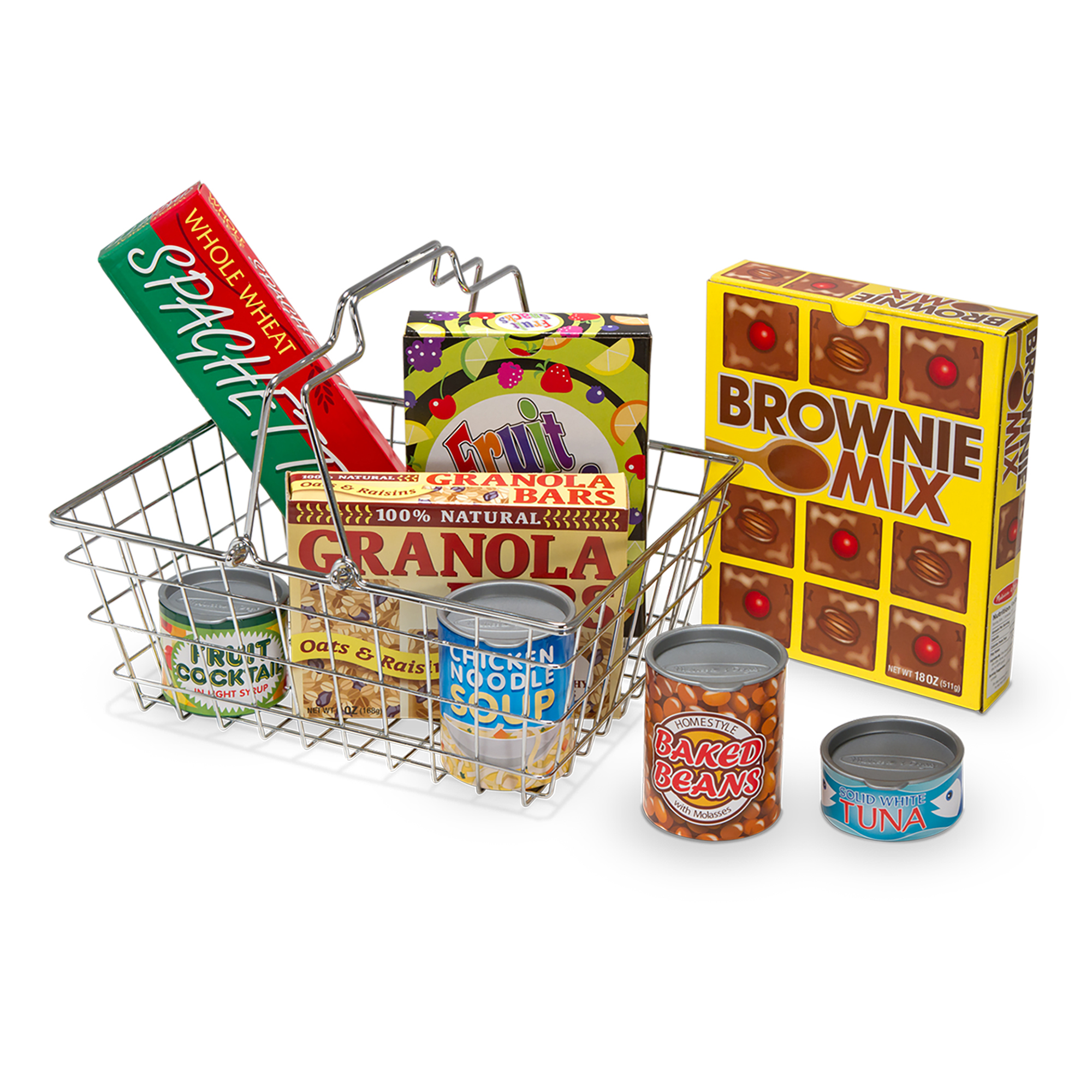 Lets Play House Grocery Basket with Play Food