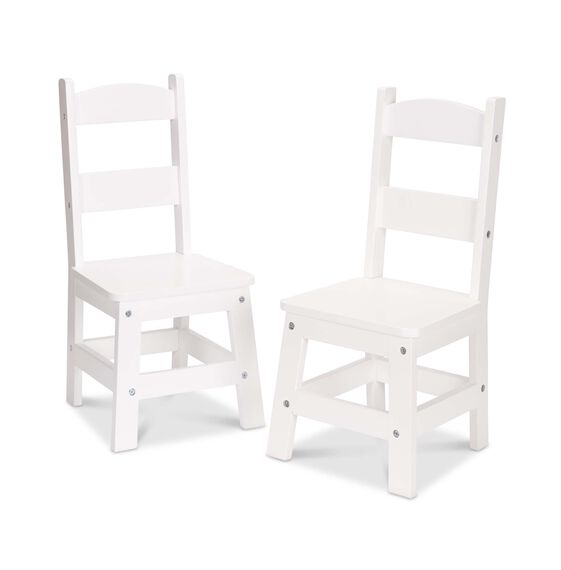 Wooden Chair Pair  - White